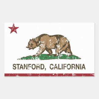 California Republic Flag Stanford Rectangular Sticker
