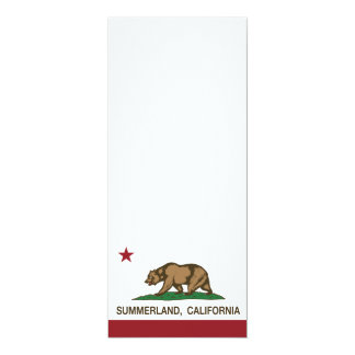 California Republic Flag Summerland 4x9.25 Paper Invitation Card