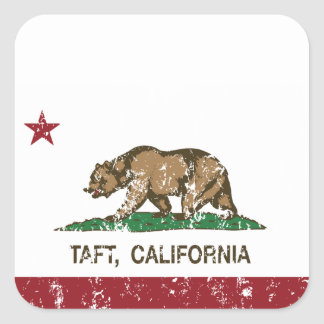 California Republic Flag Taft Square Sticker