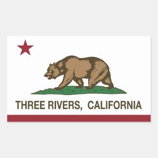 California Republic Flag Three Rivers Rectangle Sticker