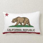 California Republic Flag Throw Pillow