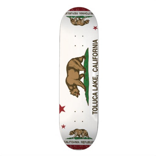 California Republic Flag Toluca Lake Skate Board Decks