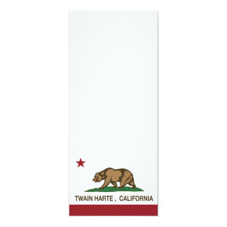 California Republic Flag Twain Harte Card
