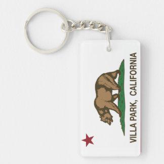 California Republic Flag Villa Park Double-Sided Rectangular Acrylic Keychain
