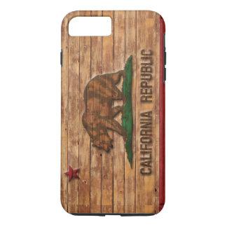 California Republic Flag Vintage Wood Design iPhone 7 Plus Case