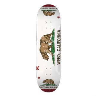 California Republic Flag Weed Skateboard Deck