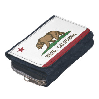 California Republic Flag Weed Wallet