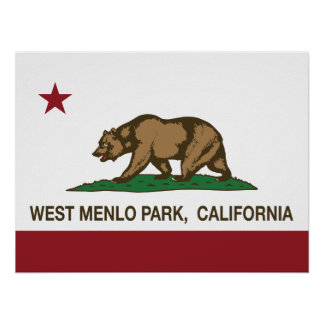 California Republic Flag West Menlo Park Poster