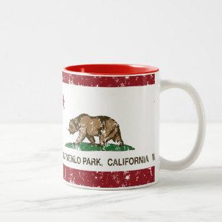 California Republic Flag West Menlo Park Two-Tone Coffee Mug