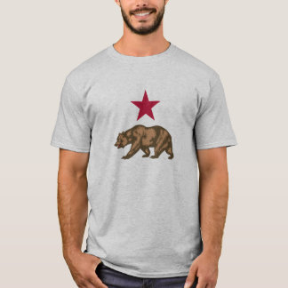 California Republic Grizzly Bear and Star T-Shirt