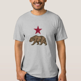California Republic Grizzly Bear and Star Tee Shirt