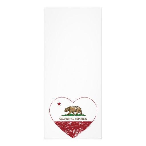 California Republic Heart Distressed Personalized Invites