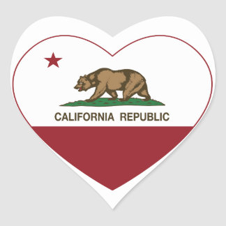California Republic Heart Heart Sticker