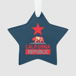 California Republic in Pop Style Ornament