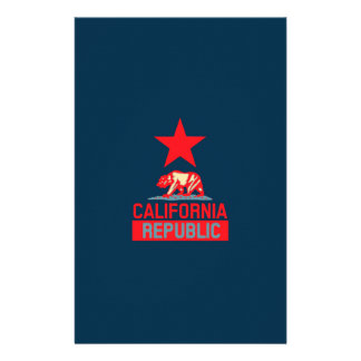 California Republic in Style on Blue Flyer