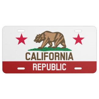 California Republic Love Automotive License Plate