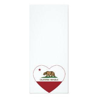 California Republic Love California Heart 4x9.25 Paper Invitation Card