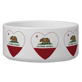 California Republic Love California Heart Pet Water Bowls