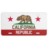 California Republic Love License Plate