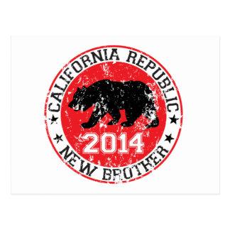 california republic new brother 2014 postcard
