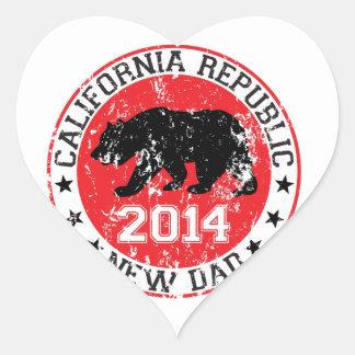 california republic new dad 2014 heart sticker