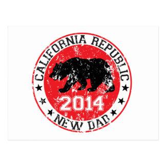 california republic new dad 2014 postcard