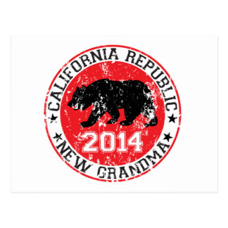 california republic new grandma 2014 postcard