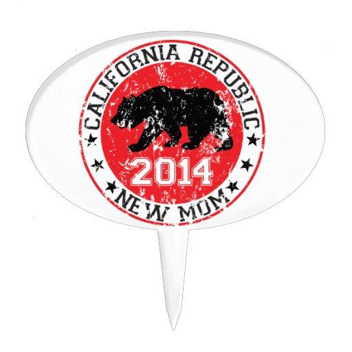 California Republic new mom 2014 Cake Topper