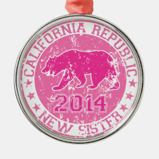 california republic new sister pink 2014 ornament