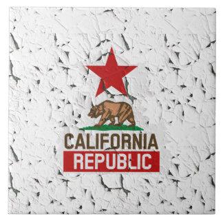 California Republic Peeling Paint Ceramic Tile