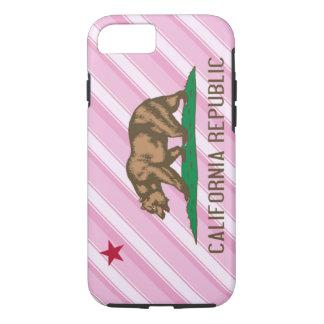 California Republic Pink Stripes Flag iPhone 7 Case