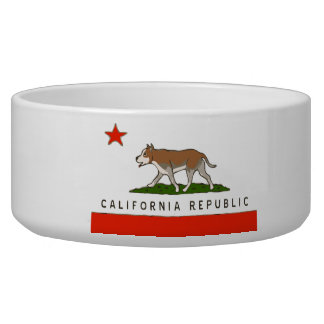 California Republic Pitbull Dog Bowl