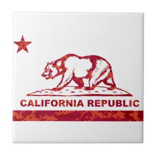 California Republic Red camouflage cali camo Tile