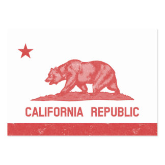 California Republic (Red) Large Business Card