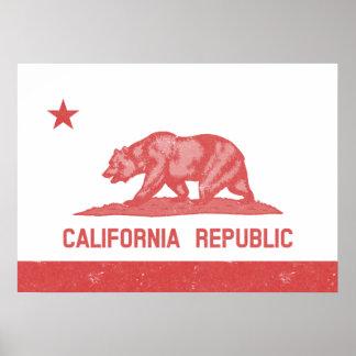 California Republic (Red) Poster