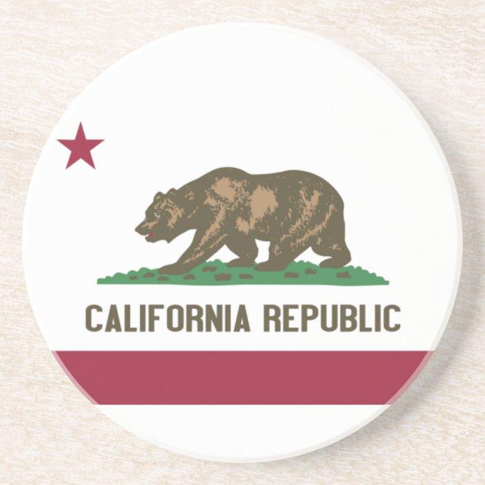 California Republic Sandstone Coaster
