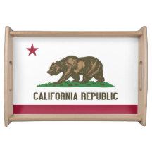 California Republic Serving Trays