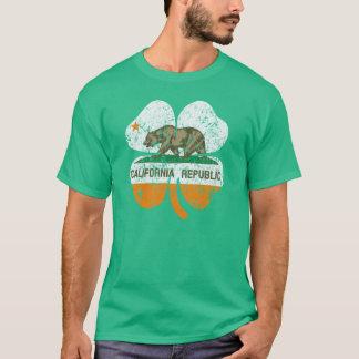 California Republic Shamrock Flag T-Shirt
