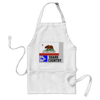 California Republic: Shark Country Adult Apron