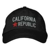 California Republic STAR Embroidery Embroidered Hat