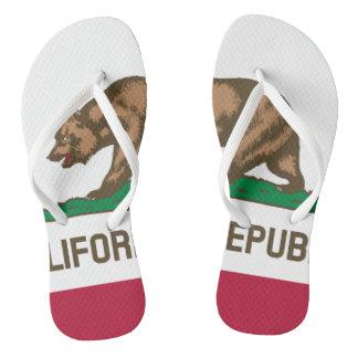 California Republic state bear flag flip flops