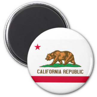California Republic State Flag 2 Inch Round Magnet