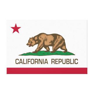California Republic State Flag - Authentic version Canvas Print