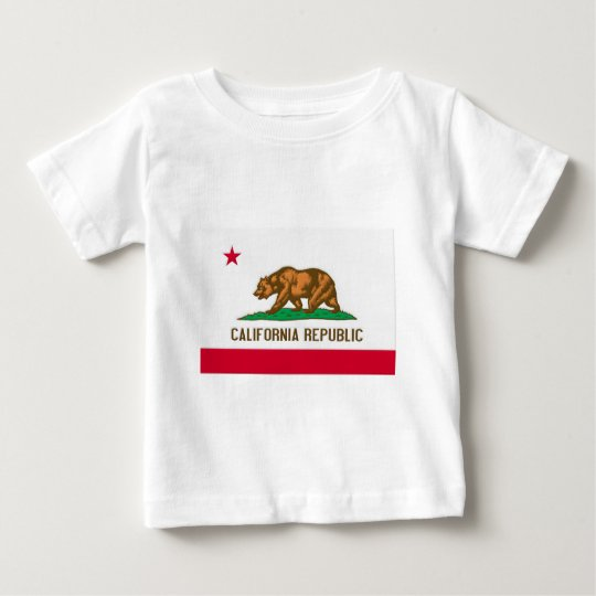 California Republic State Flag Baby T-Shirt