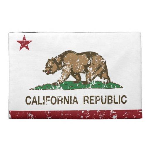 california republic state flag travel accessories bag