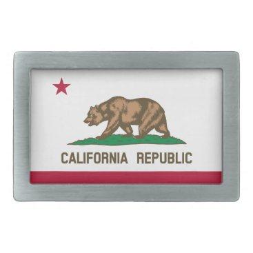 California Republic state flag belt buckle