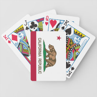California Republic (State Flag) Bicycle Playing Cards