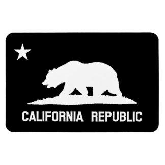 California Republic State Flag Black/White Magnet