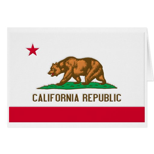 California Republic State Flag Cards