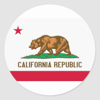 California Republic State Flag Classic Round Sticker